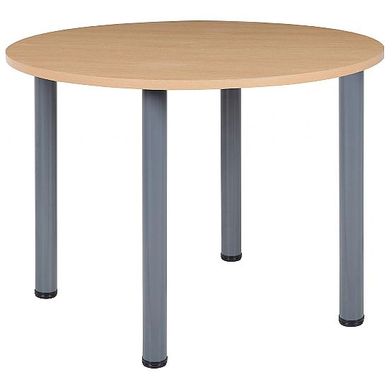Next Day Start Tubular Round Meeting Table - Office Furniture
