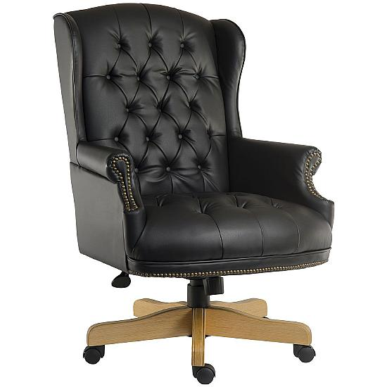 Chairman Noir Black Manager Chair - Office Chairs