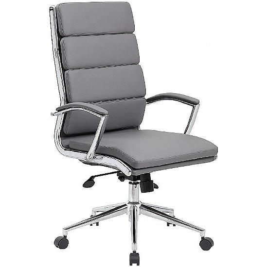 Venice High Back Leather Faced Managers Chair - Office Chairs