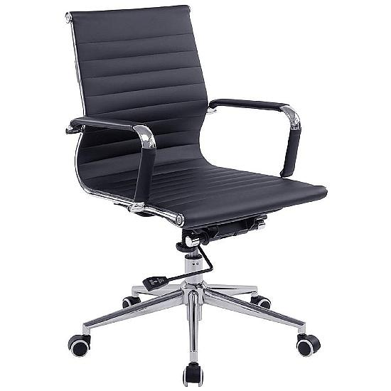 Aura Bonded Leather Medium Back Managers Chair
