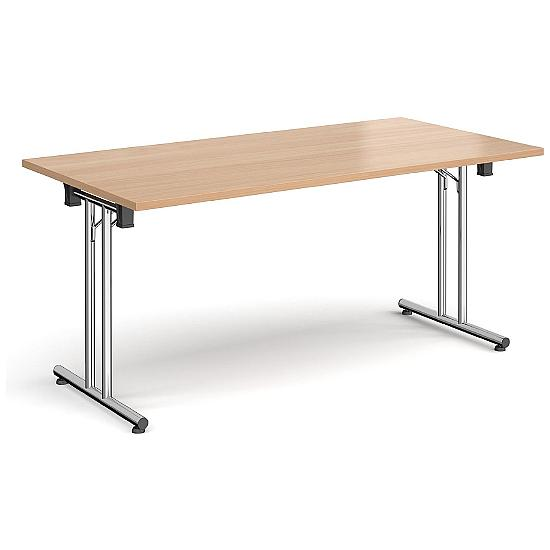 Next Day Folding Chrome Meeting Table