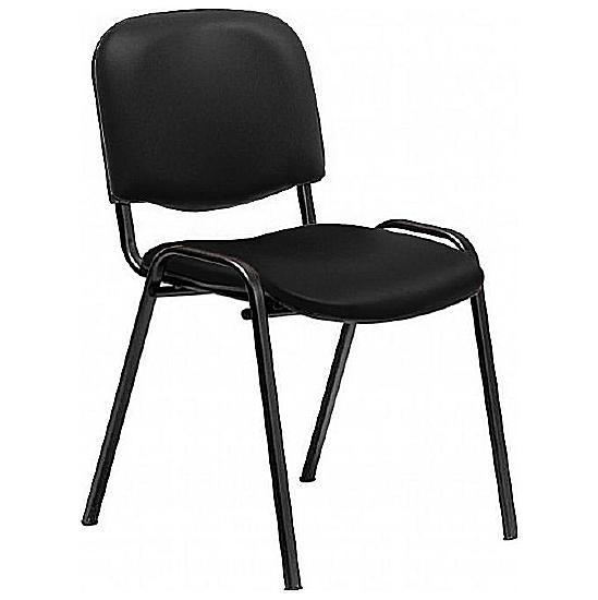 Swift Vinyl Black Frame Visitor Chair (Pack of 4) - Meeting Room Chairs