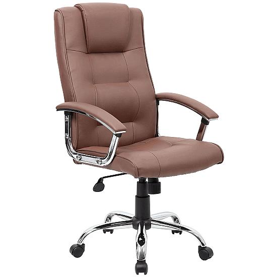 Melbourne Soft Touch Brown Leather Manager Chair